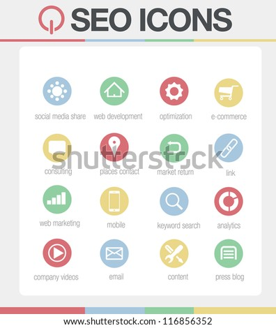 SEO Icons vector Set 2