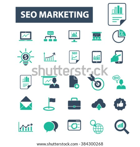 seo marketing icons
