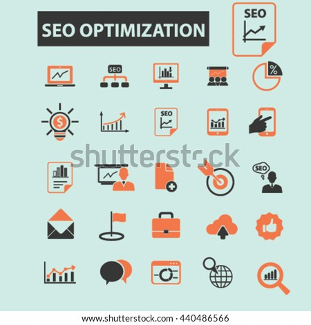 seo optimization icons #440486566