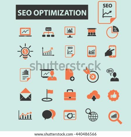 seo optimization icons #440486566