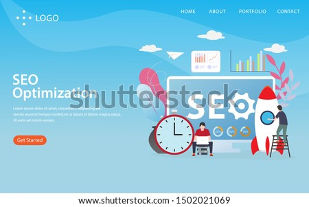 seo optimization vector illustration concept, can use for, landing page, template, ui, web, mobile app, poster, banner, flyer