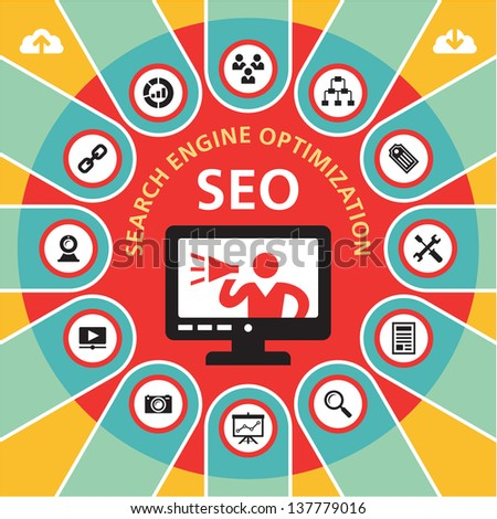 SEO (Search Engine Optimization) Infographics Concept 4