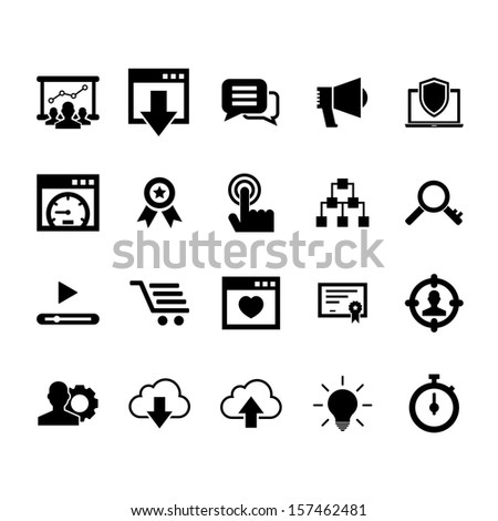 SEO Services and Marketing Icon set 2 #157462481