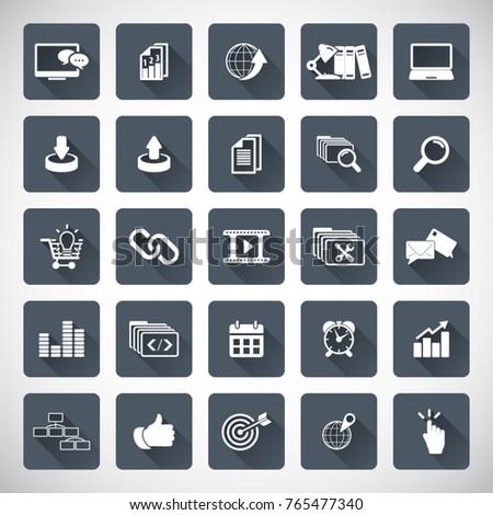 SEO services. SEO icons set.