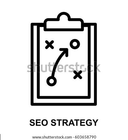 seo strategy line icon
