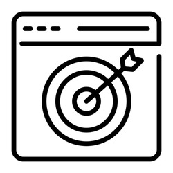 seo targeting outline design, SEO and web flat design for mobile concepts and web apps. Collection of modern infographic logo and pictogram.