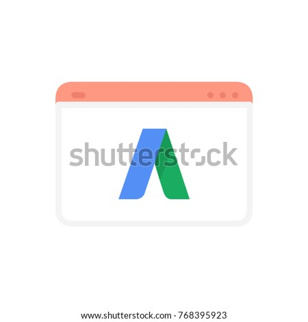 SEO web flat icon adwords advertising