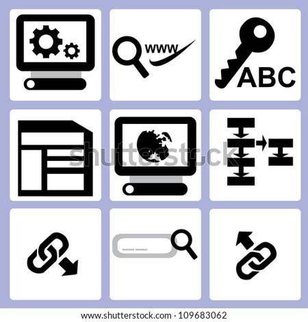 SEO, web icon set