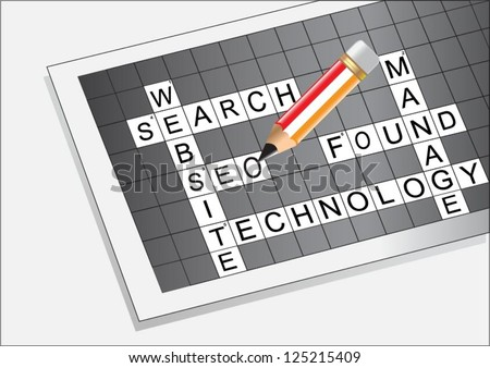 SEO Word puzzle vector