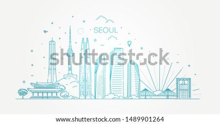 seoul architecture line skyline