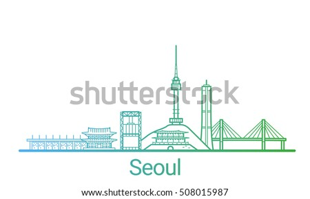 seoul city colored gradient