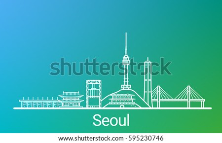 seoul city white line on
