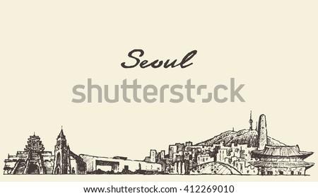 seoul skyline  south korea
