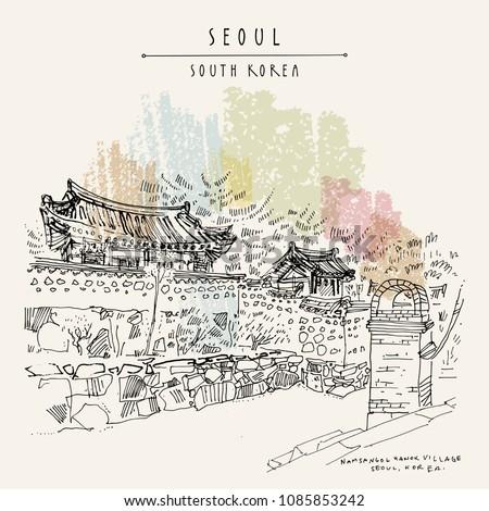 seoul  south korea  asia hanok