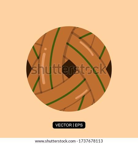 Sepak Takraw Ball flat icon vector illustration logo template for many purpose.