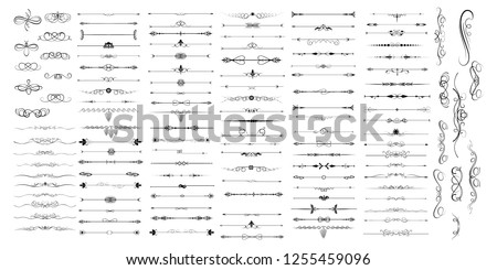 Separators vector collection symbol isolated. Vector illustration. Vector illustration isolated on white background.