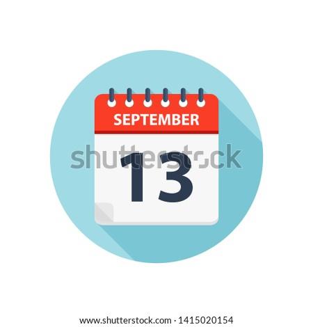 september 13   calendar icon