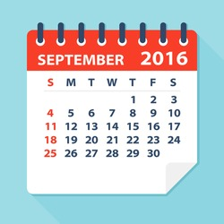 September 2016 calendar - Illustration