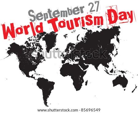 september 27 - world tourism day - stock vector