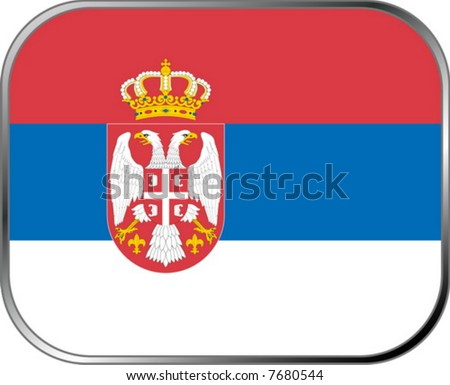 Serbia flag icon with official coloring