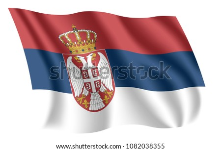 serbia flag isolated national