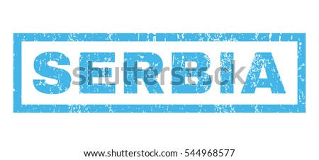 serbia text rubber seal stamp