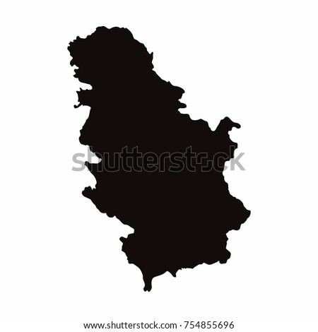 serbia vector country map