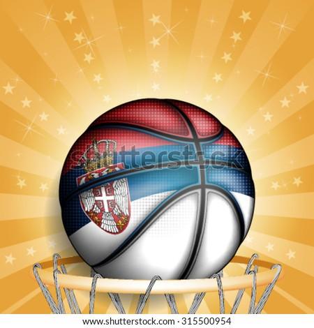 serbian basket ball  vector