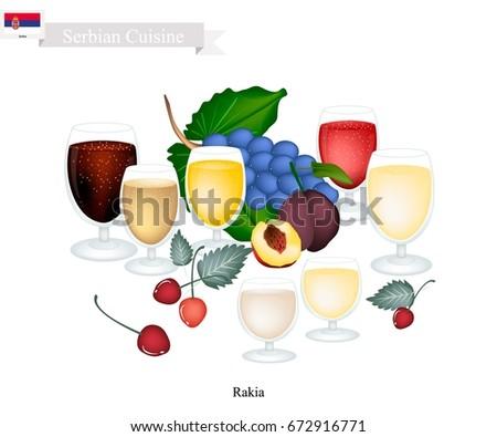 serbian cuisine  rakia or