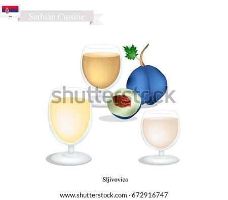 serbian cuisine  sljivovica or