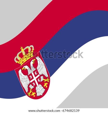 serbian flag vector