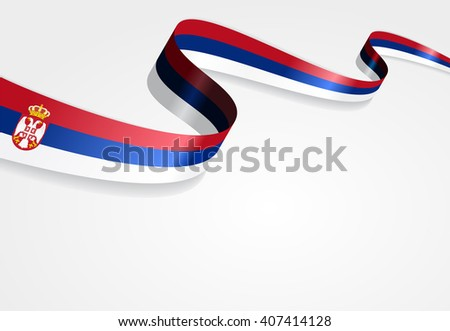 serbian flag wavy abstract