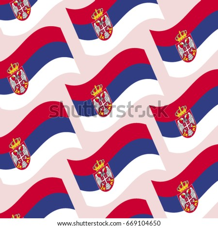 serbian flags vector