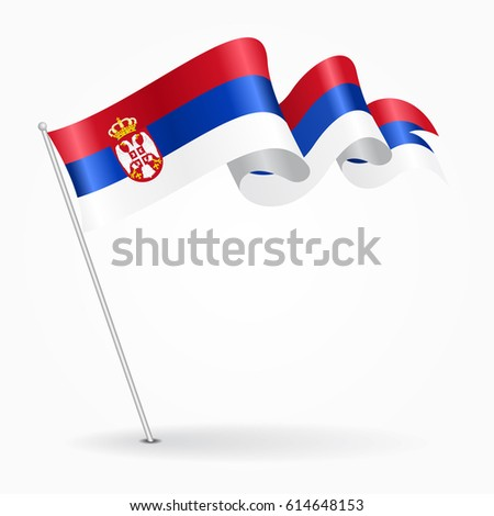serbian pin icon wavy flag
