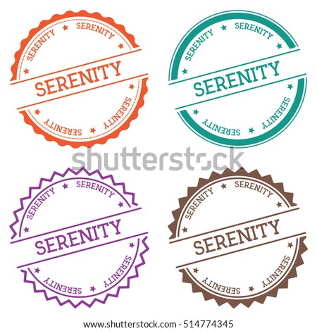 serenity badge isolated on