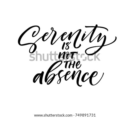 serenity is not the absence