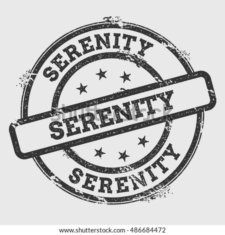 serenity rubber stamp isolated