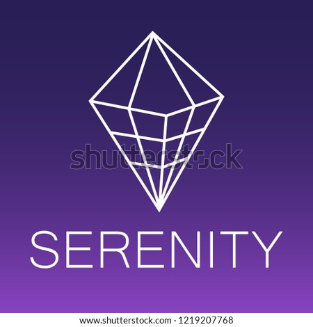 serenity vector outline icon
