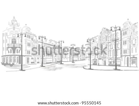 Series of street views in the old city