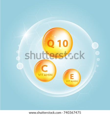 serum and vitamin background concept skin care cosmetics solution vector design.