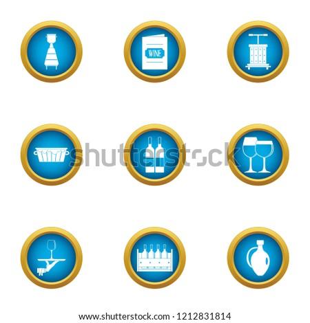serve icons set flat set of 9