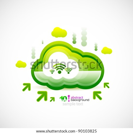 Server cloud. Wireless connection vector background