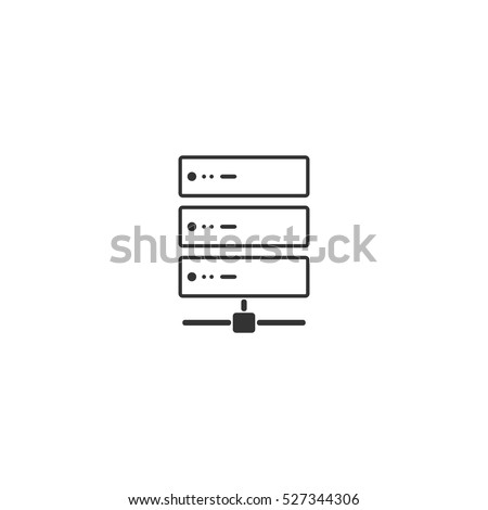 Server icon flat. Illustration isolated vector sign symbol