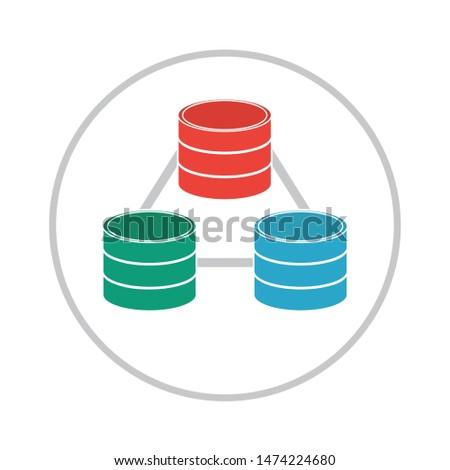 server icon. flat illustration of server vector icon. server sign symbol