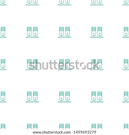server icon pattern seamless white background. Editable line server icon. server icon pattern for web and mobile.
