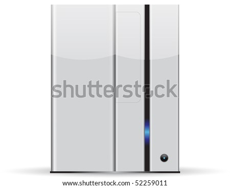 Server minimalist, isolated on white background