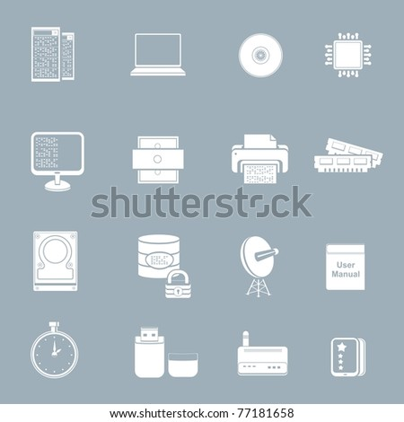server pc vector icon set