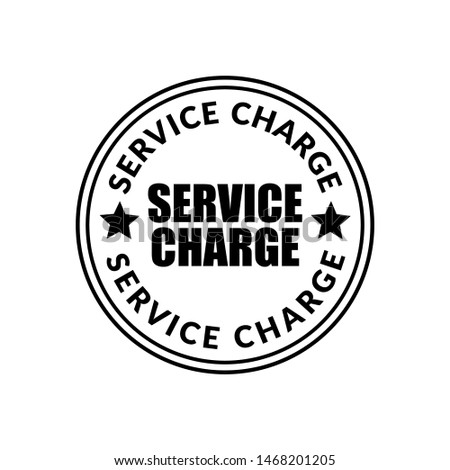 service charge stamp. rubber stamp with the text service charge. service charge label, badge, logo,seal