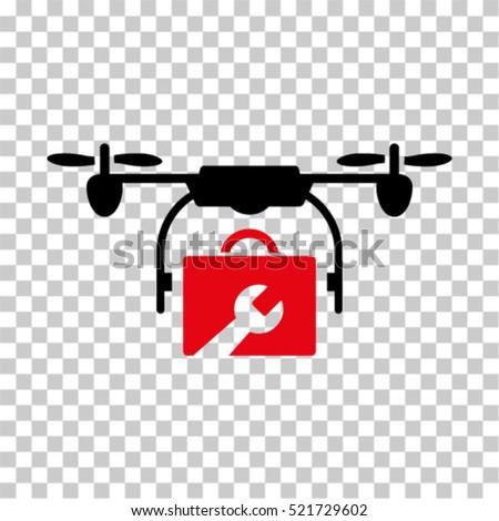 service drone icon vector