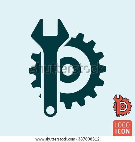 Service icon. Support icon minimal design. Vector illustration